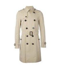 burberry trench coat abotoamento duplo - neutro