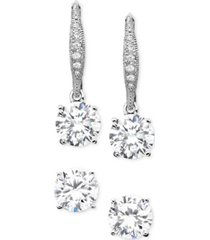 eliot danori cubic zirconia (1-1/4 ct. t.w.) earring set, created for macy's
