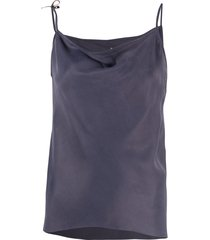 rick owens cupro tie side camisole - purple