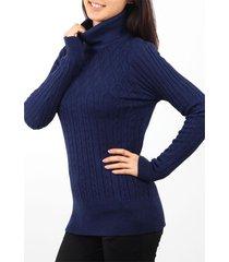 sweater  azul minari polera