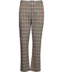 high waist straight ankle leg checked pants pantalon met rechte pijpen multi/patroon scotch & soda