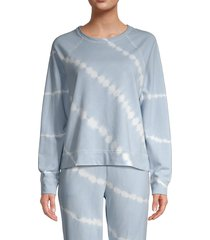 beach lunch lounge women's tamra tie-dye sweatshirt - dusty sky - size xs