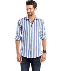 camisa a rayas bristol  azul ferouch