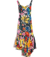 sleeveless ruffle skirt dress in lemmon cay