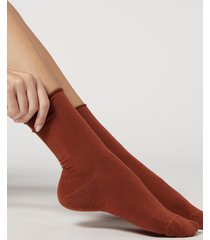 calzedonia ankle socks with cashmere woman burgundy size 39-41