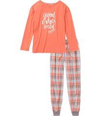 pigiama con maglia oversize (arancione) - bpc bonprix collection