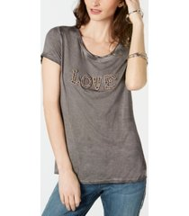 inc embellished love t-shirt, created for macy's
