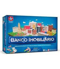 jogo de mesa banco imobiliã¡rio estrela 8+ - azul - dafiti