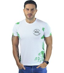 camiseta hombre manga corta slim fit blanco marfil california