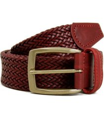 anderson's belts woven leather belt | dark red | a/1716r1
