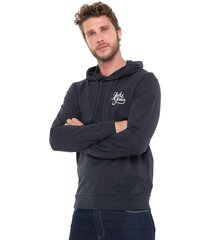 moletom fechado jack & jones sweat male azul-marinho