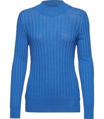 laura blouse lange mouwen blauw dagmar