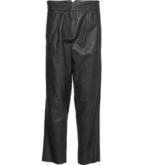 iris leather pants leather leggings/broek zwart mdk / munderingskompagniet
