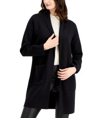 alfani open front patch pocket cardigan, created for macy's