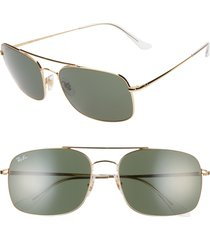 men's ray-ban 60mm navigator sunglasses -