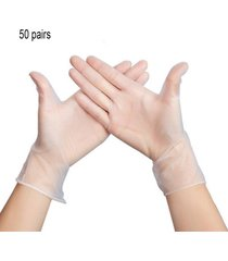 guantes de pvc transparentes desechables guantes protectores de procesamiento de alimentos