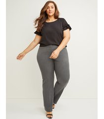 lane bryant women's curvy allie tailored stretch trouser pant 12 gray