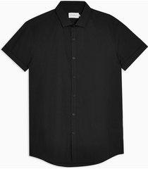 mens black slim dress shirt