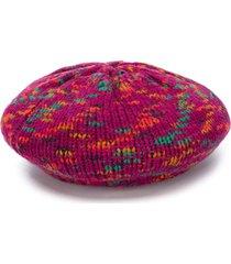 m missoni wool-knit beret - purple
