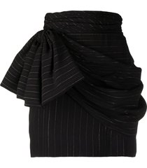 redemption ruched bow-detail skirt - black