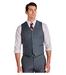 traveler collection slim fit solid men's suit separate vest - big & tall by jos. a. bank