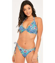 new native underwire bandless halter bikini top