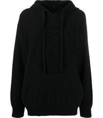 versace medusa wool hoodie - black