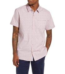 men's 7 diamonds modular mix slim fit shirt, size x-large - pink
