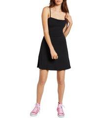 women's volcom shred some rug skater dress, size x-small - black