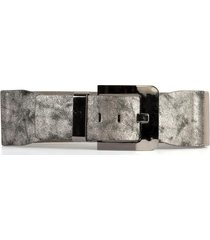 cinturón elástico hebilla pasador plata mailea