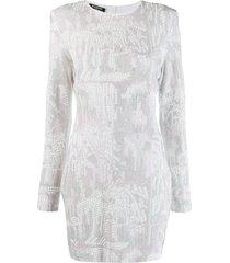balmain studded bodycon dress - white