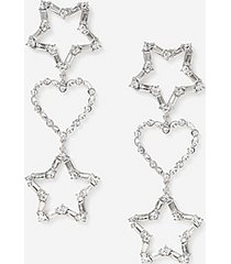 *heart star drop earrings - clear