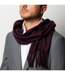 sciarpa da uomo, maalbi, vinaccia tinta unita, autunno inverno | lanieri
