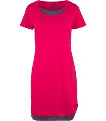 abito in maglina stampato a manica corta (rosso) - john baner jeanswear