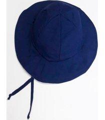 chapéu infantil dupla-face com proteção solar ecotrends fps50 azul e verde