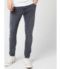 nudie jeans men's skinny lin jeans - concrete grey - w34/l32