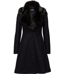 tracey coat wollen jas lange jas blauw ida sjöstedt