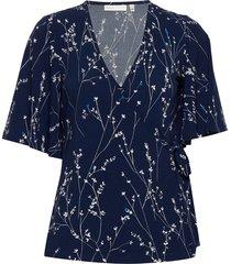 kalviniw blouse blouses short-sleeved blauw inwear