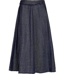 astoria knälång kjol blå weekend max mara