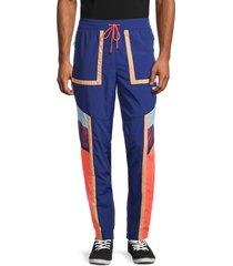 puma men's courtside colorblocked pants - blue - size xxl
