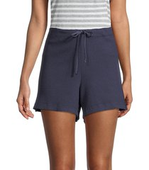 hard tail women's textured cotton shorts - stormy blue