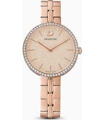 orologio cosmopolitan, bracciale di metallo, rosa, pvd oro rosa