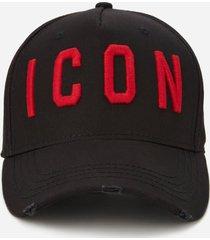 dsquared2 men's icon cap - black/red