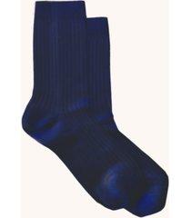 women's silky blend rib crew socks