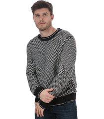mens patchword herringbone sweatshirt