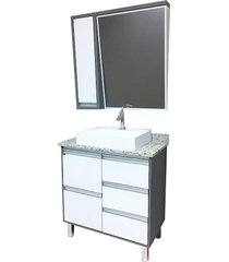 conjunto de banheiro são joão bastille, opera e branco, 80 cm