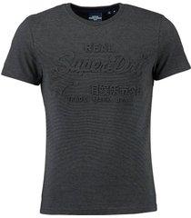 t-shirt emboss donkergrijs