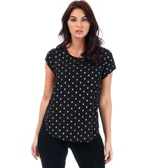 only womens vic foil print top size 12 in black