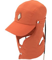 a-cold-wall* neck panel baseball cap - orange