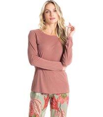 pijama longo estampado lia